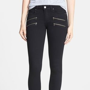 Paige Edgemont Ultra Skinny Jeans Black Shadow 25